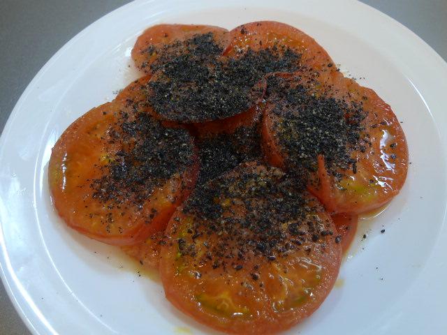焼きトマト完成
