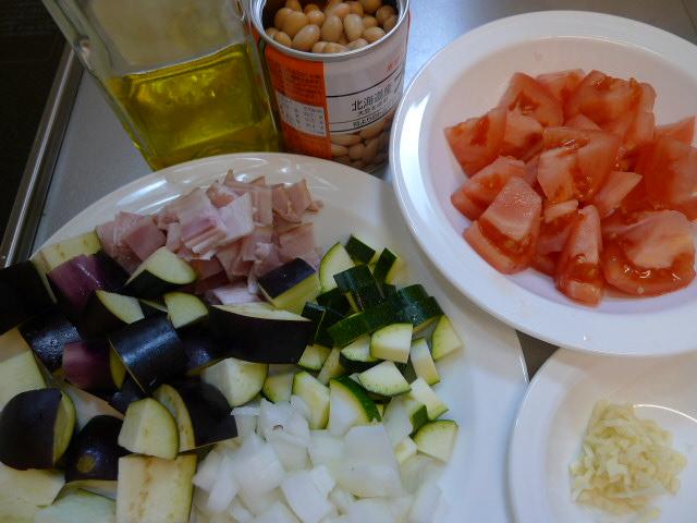 大豆と野菜スープ煮カット