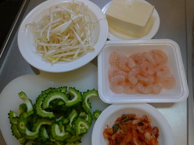 豆腐とキムチカット