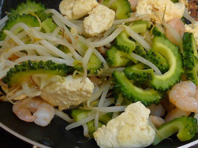 豆腐とキムチ炒め