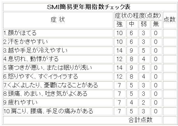 SMIチェック表