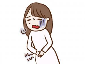 月経痛の女性